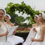 ballet dancers in swan lake tutus