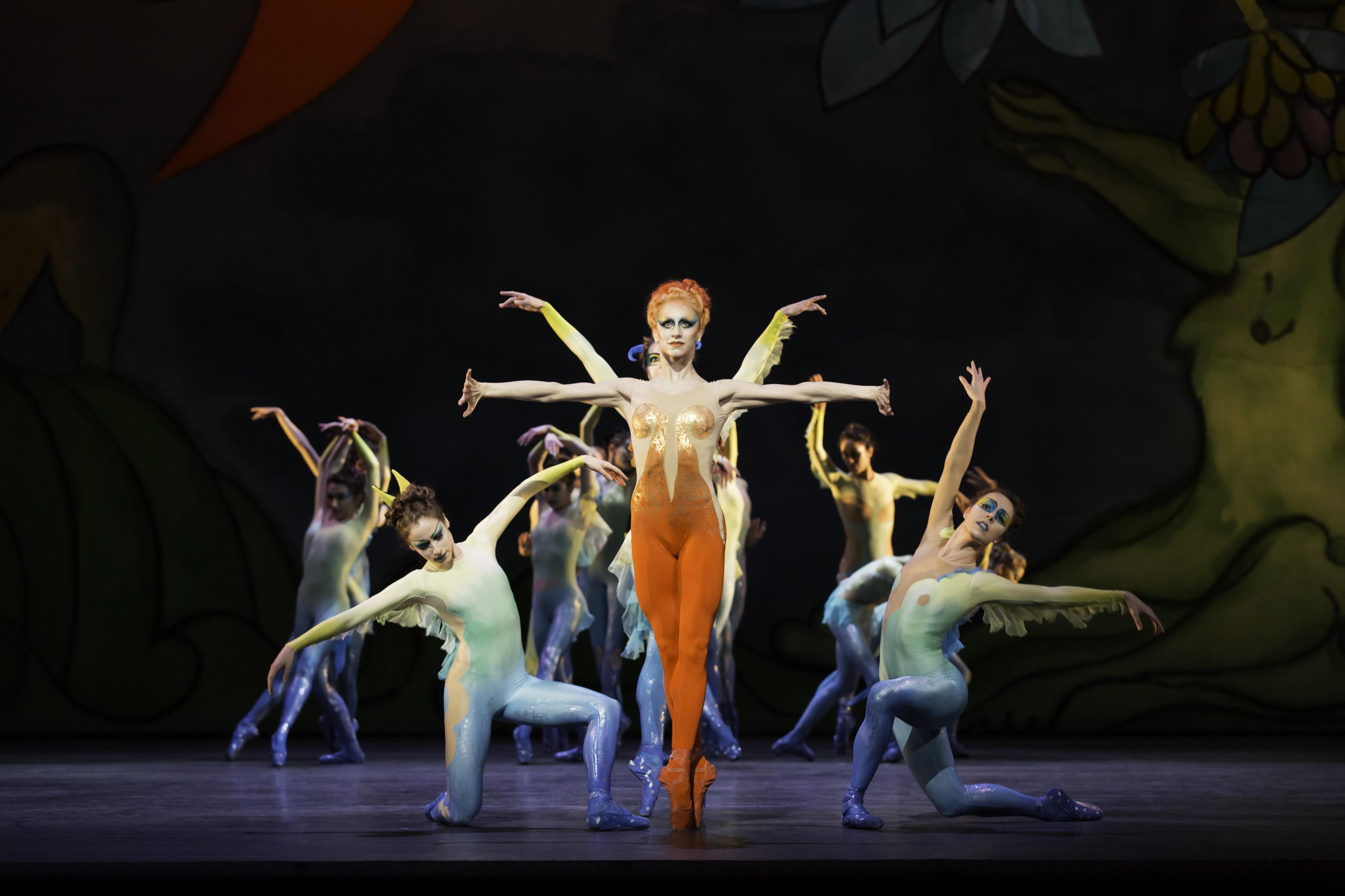 ballet dancer in orange tights