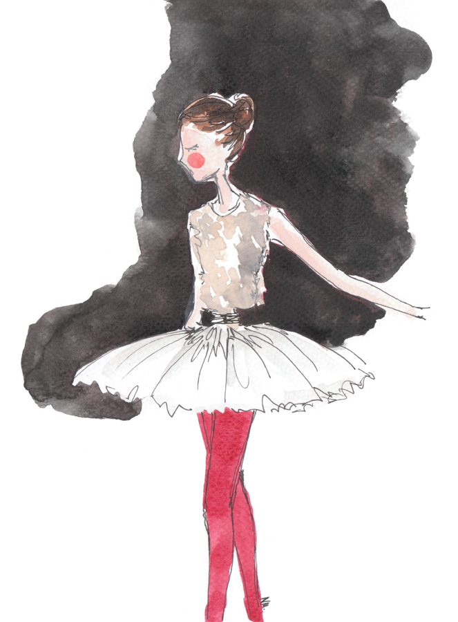 ballet dancer in red tights