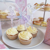 cupcakes with ballet dancer toppers