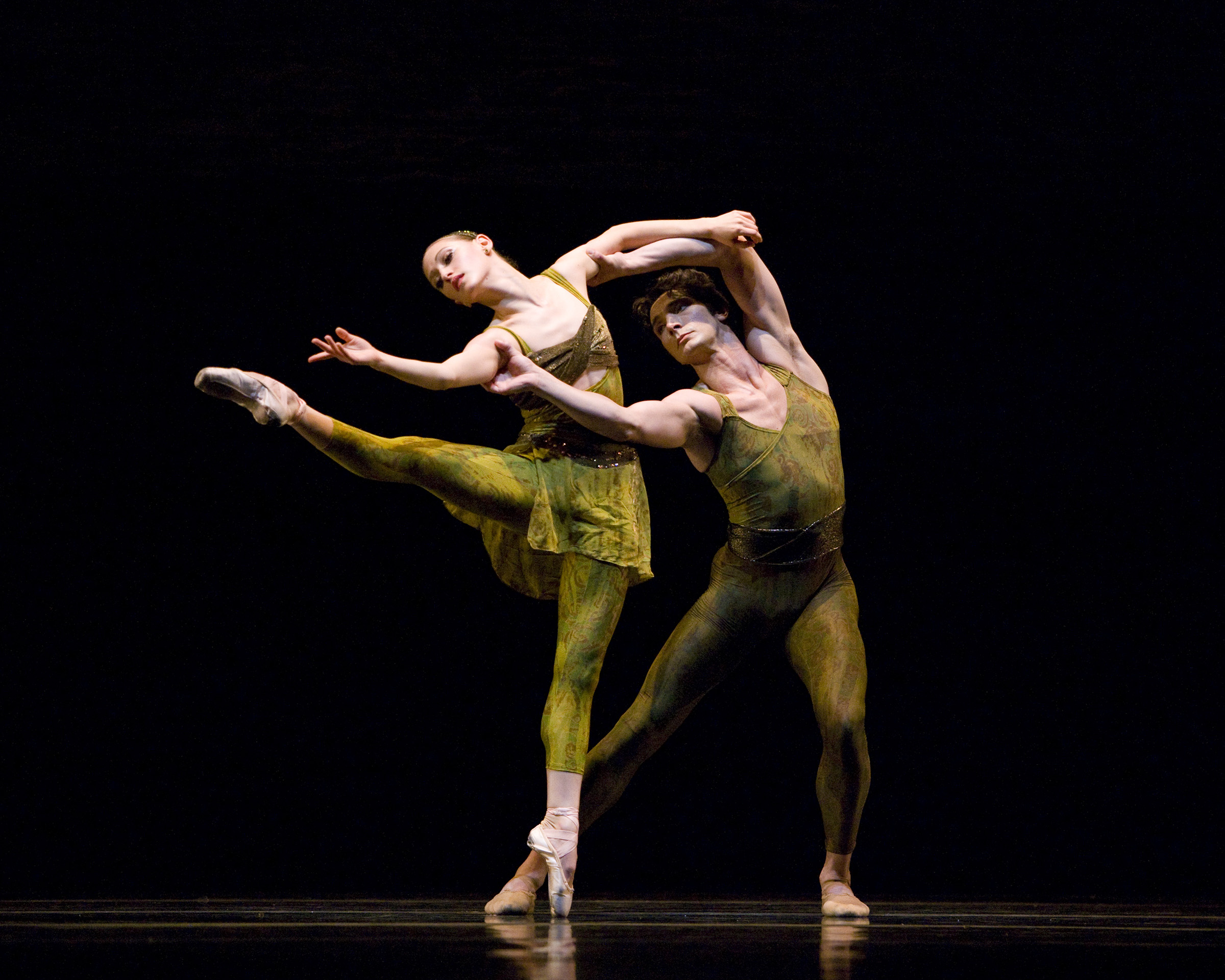 Sarah Van Patten and Pierre Francois-Vilanoba in Wheeldon's Within the Golden Hour Erik Tomasson