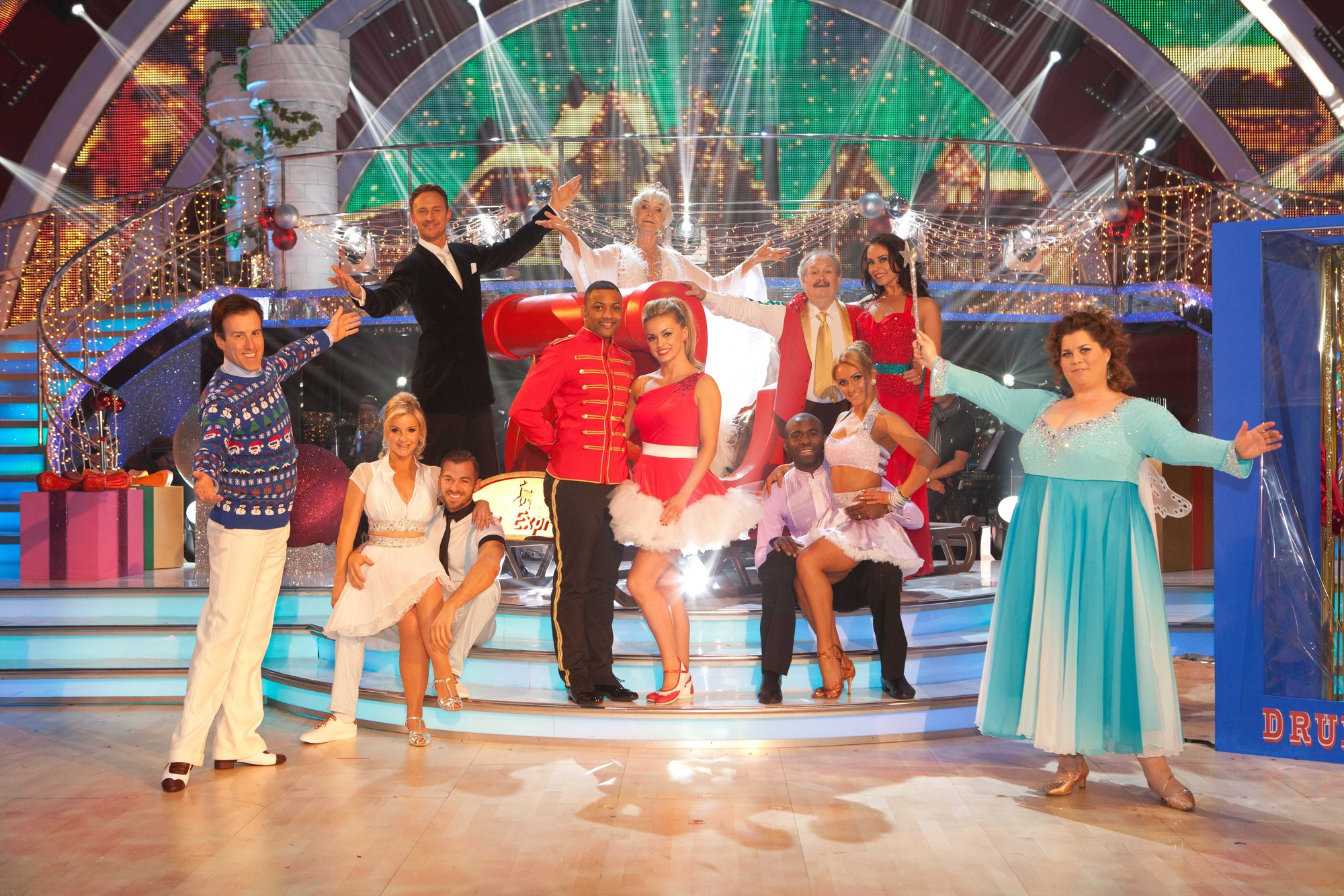 The celebrities and professional dancers taking part in the Strictly Come Dancing Christmas Special 2012.  - (C) BBC - Photographer: Guy Levy