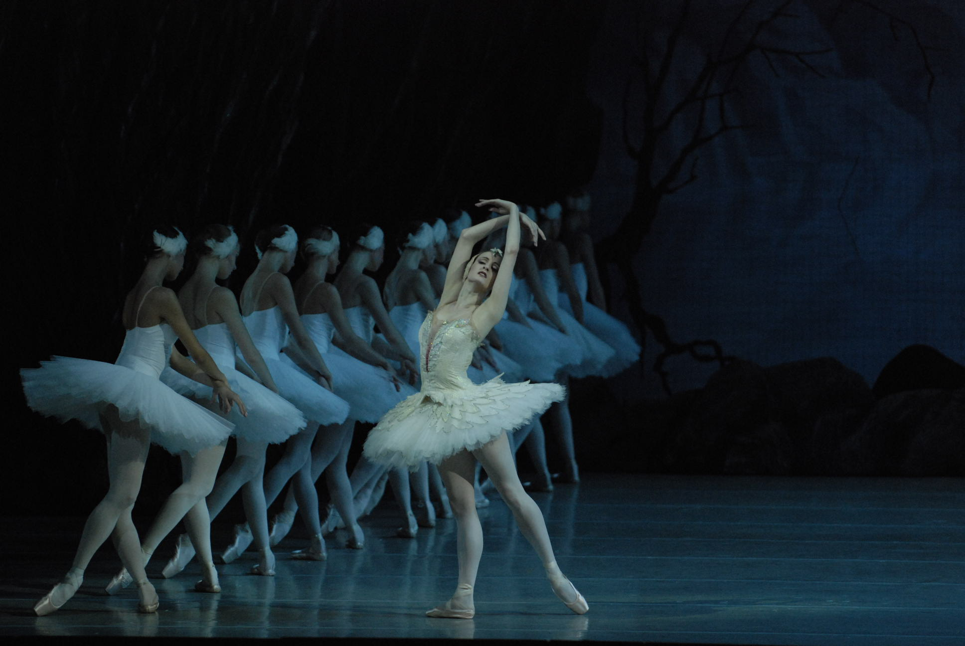 Gillian Murphy dancing Swan Lake in St  Petersburg with the Mariinsky Ballet   Photo by Neff courtesy of Gaynor Minden