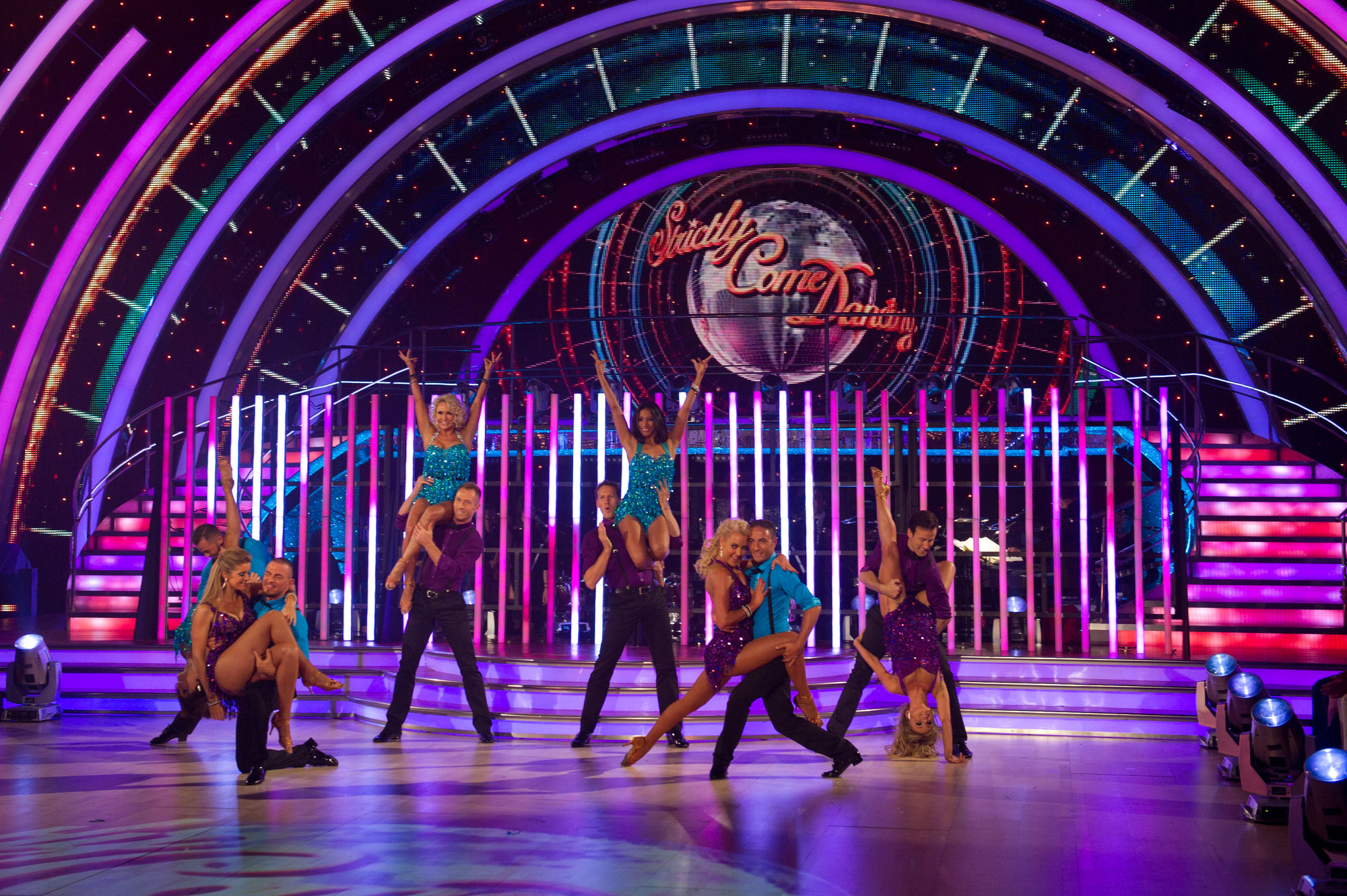 Strictly Come Dancing professional dancers perform on the live show*  - (C) BBC - Photographer: Des Willie
