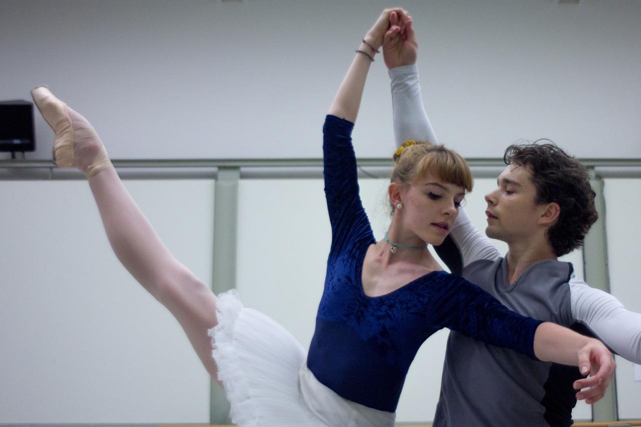 ballet dancer in rehearsal