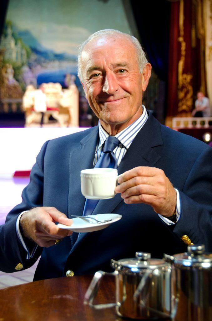 LEN GOODMAN enjoys a break during a Tea Dance at the spiritual home of Ballroom Dancing, Blackpool's TOWER BALLROOM Len Goodman - (C) Roger Keech Productions Ltd - Photographer: Roger Keech