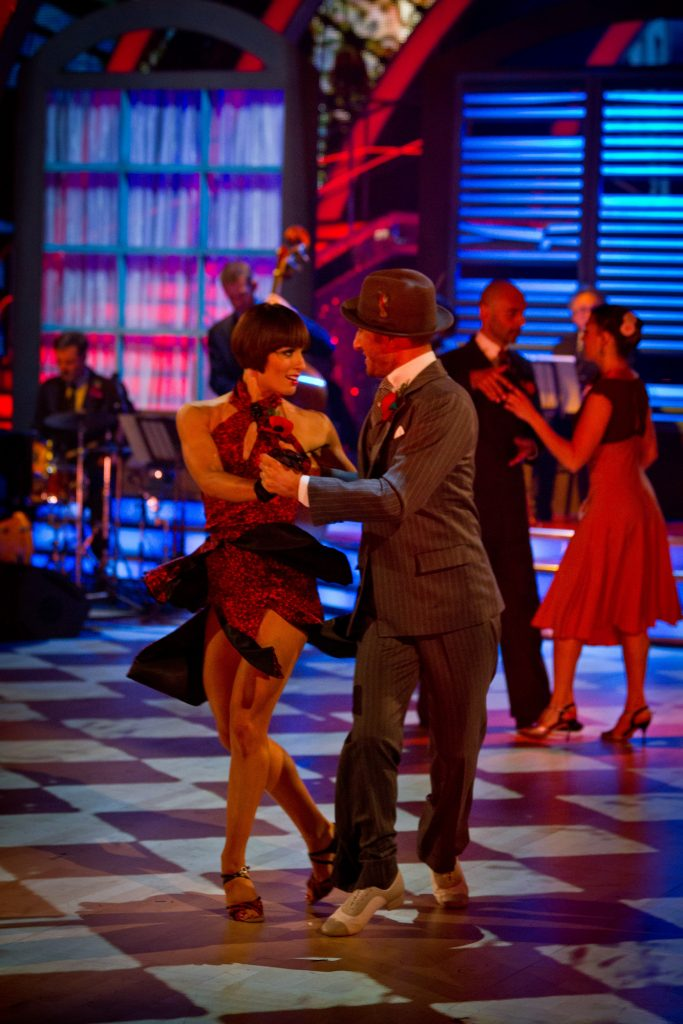 A performance from Midnight Tango Flavia Cacace, Vincent Simone - (C) BBC - Photographer: Guy Levy
