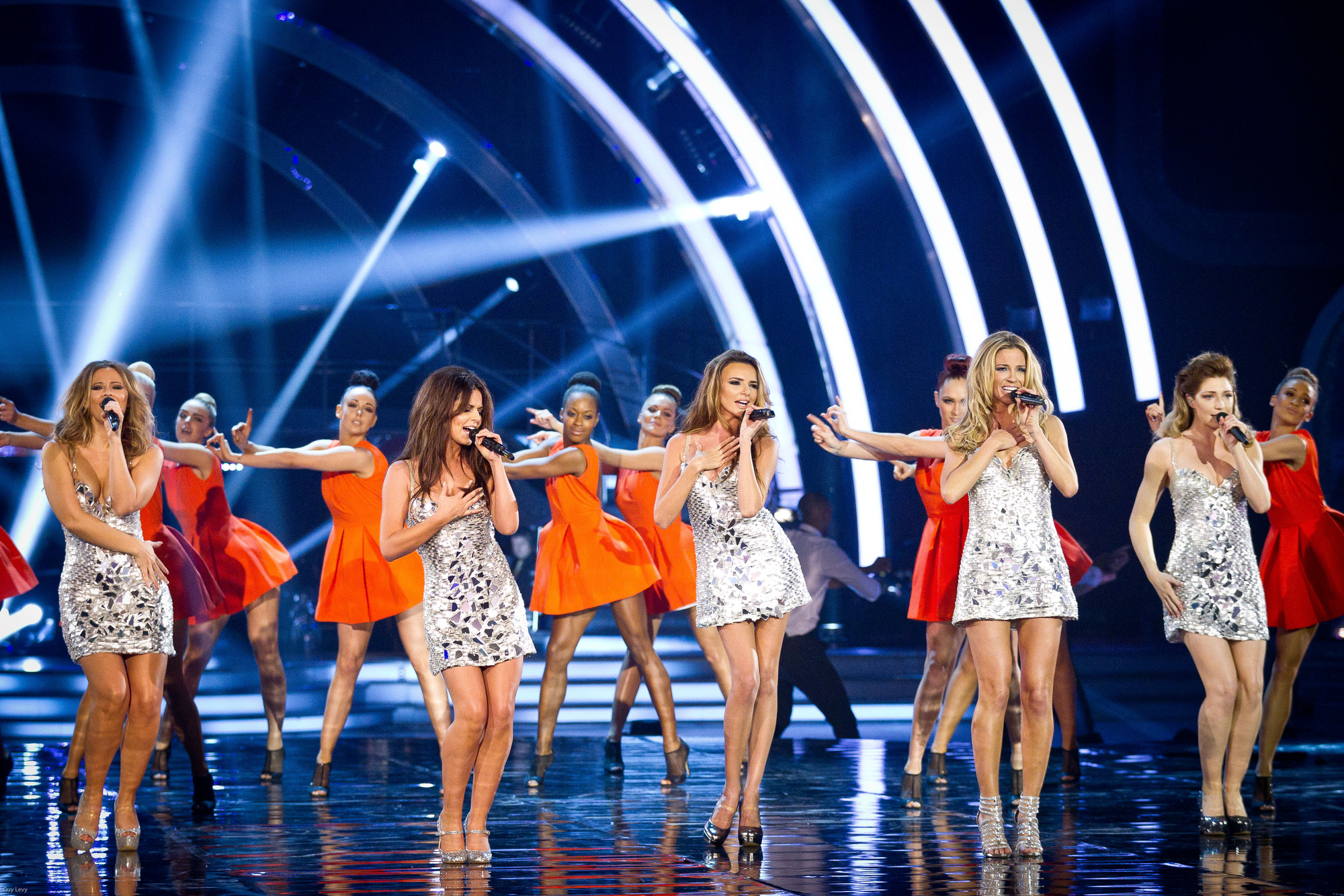 Performing their single 'Something New', Girls Aloud - (C) BBC - Photographer: Guy Levy