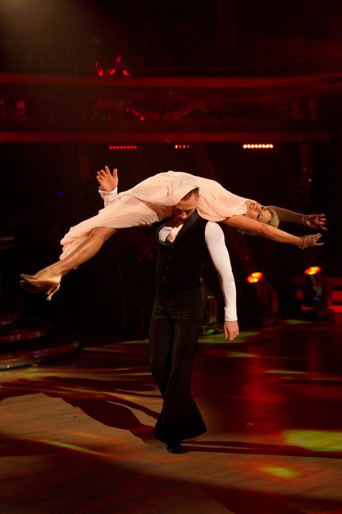 ***LIVE SHOW*** James Jordan, Denise Van Outen - (C) BBC - Photographer: Guy Levy
