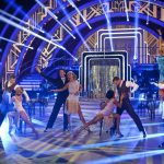 The professional dancers on Sunday night's show - (C) BBC - Photographer: Guy Levy