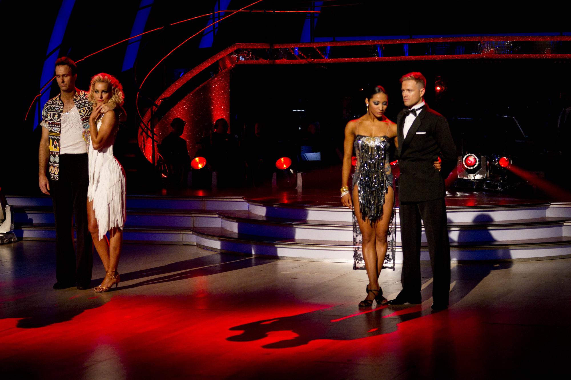 Nicky Byrne, Karen Hauer, Natalie Lowe, Michael Vaughan - (C) BBC - Photographer: Guy Levy