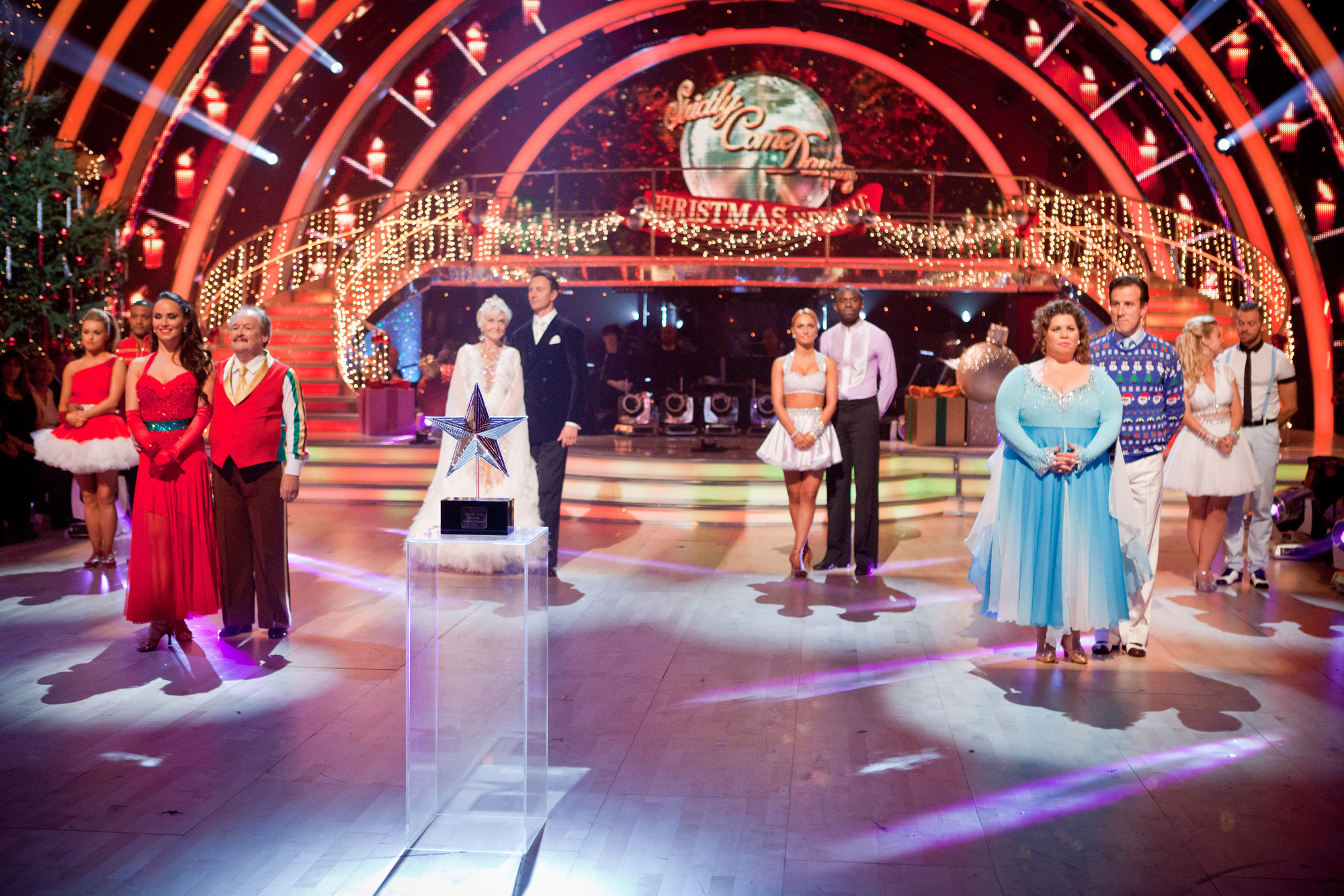 The contestants and dancers of Strictly Come Dancing 2012 Christmas Special.  - (C) BBC - Photographer: Guy Levy