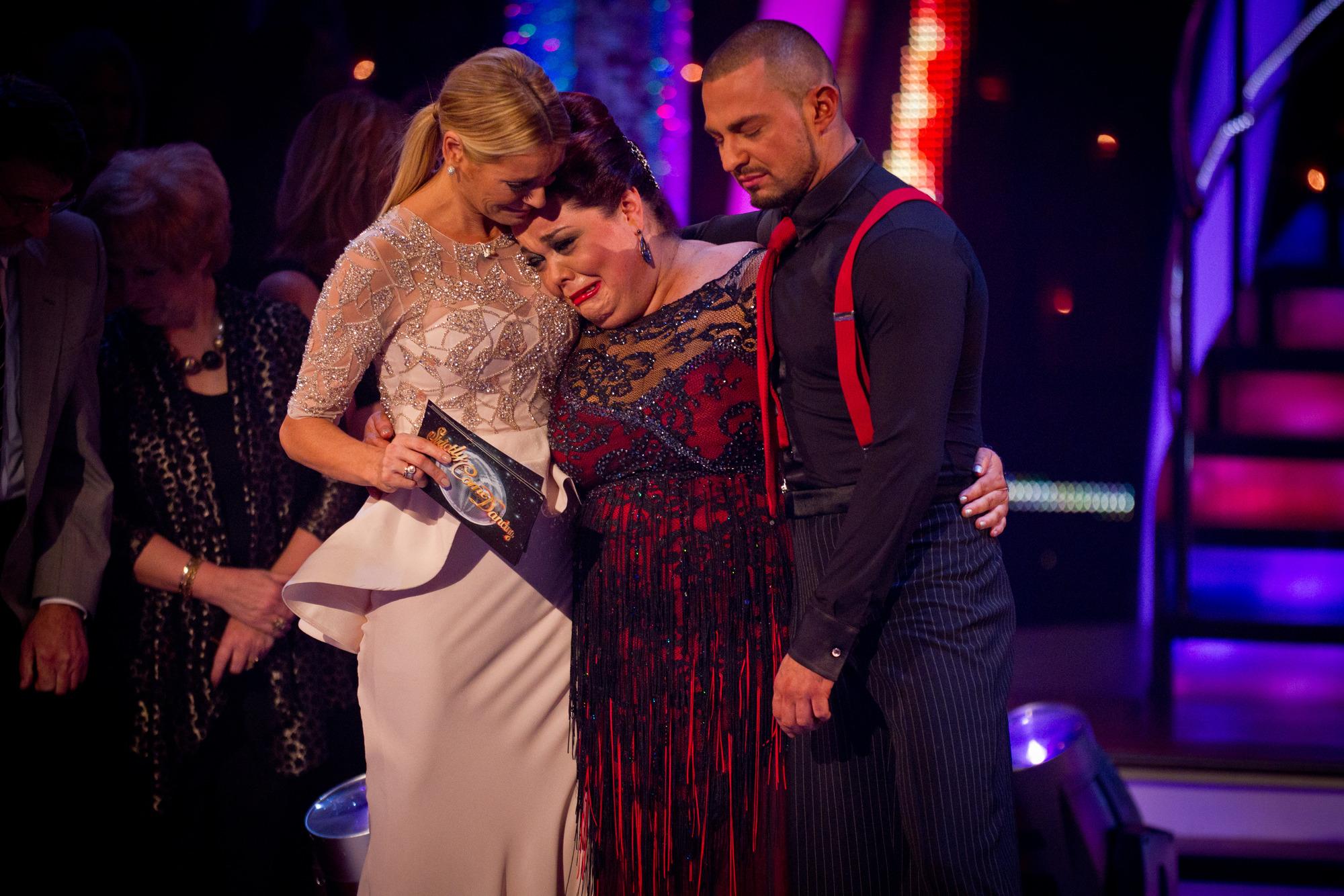 Tess Daly, Lisa Riley, Robin Windsor - (C) BBC - Photographer: Guy Levy