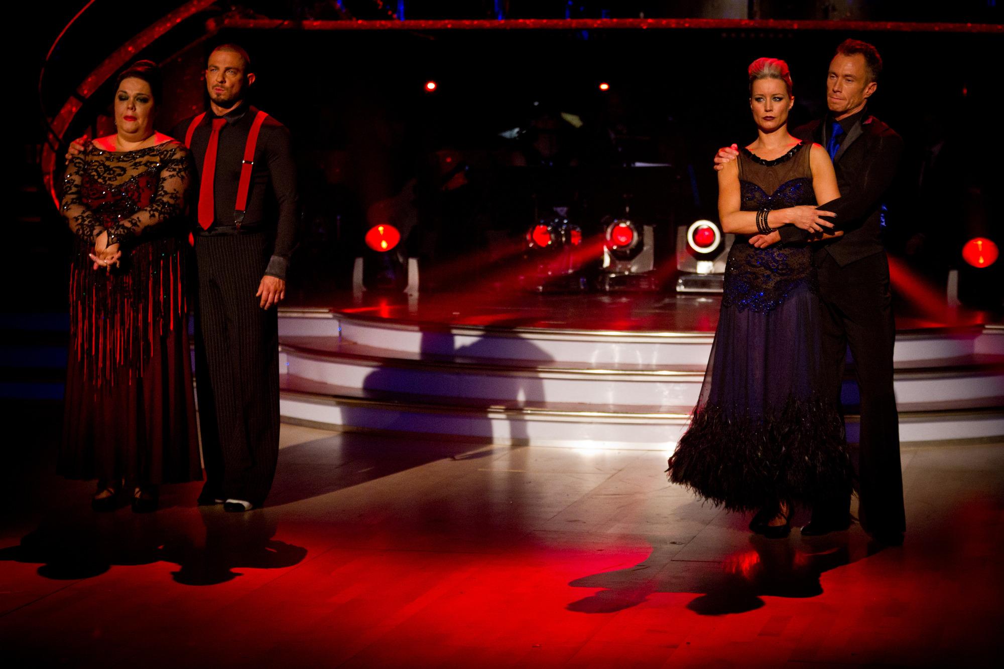 The bottom two couples Lisa Riley, Robin Windsor, Denise Van Outen, James Jordan - (C) BBC - Photographer: Guy Levy