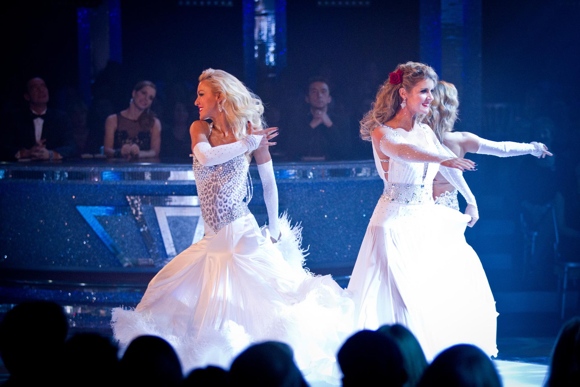The Strictly professional dancers Natalie Lowe, Erin Boag, Ola Jordan - (C) BBC - Photographer: Guy Levy