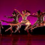 ballet dancers on pink stage