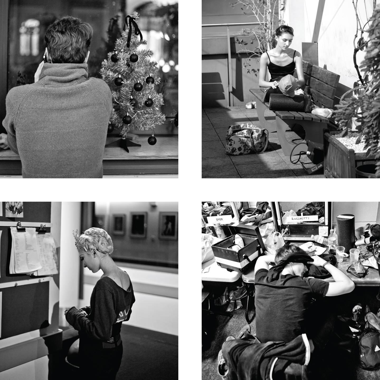 Clockwise from top left : James Wilkie, Elsa Godard, Valentino Zucchetti and Elsa Godard  Photograph : Andrej Uspenski