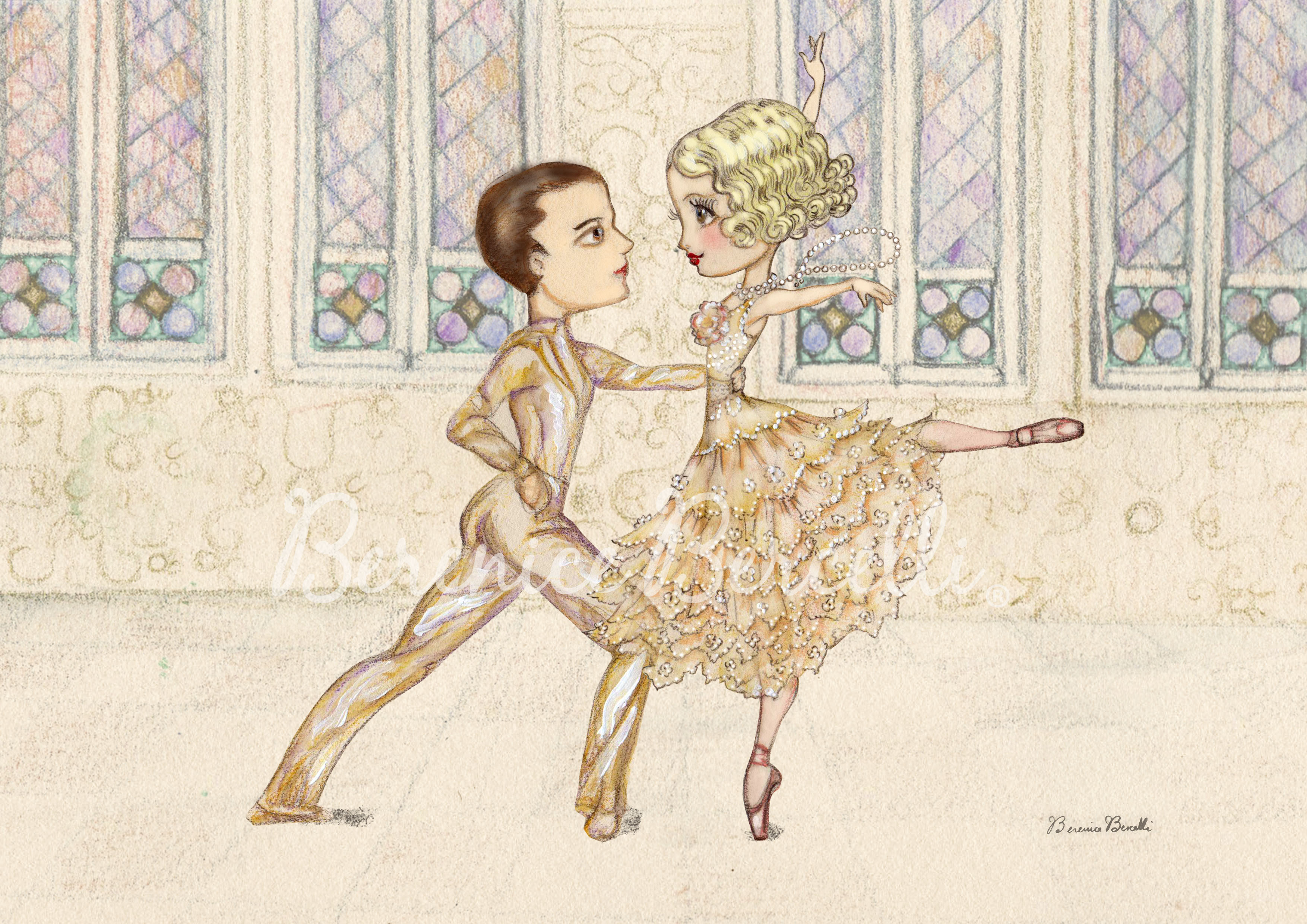 The Great Gatsby inspired illustration exclusively for Ballet News