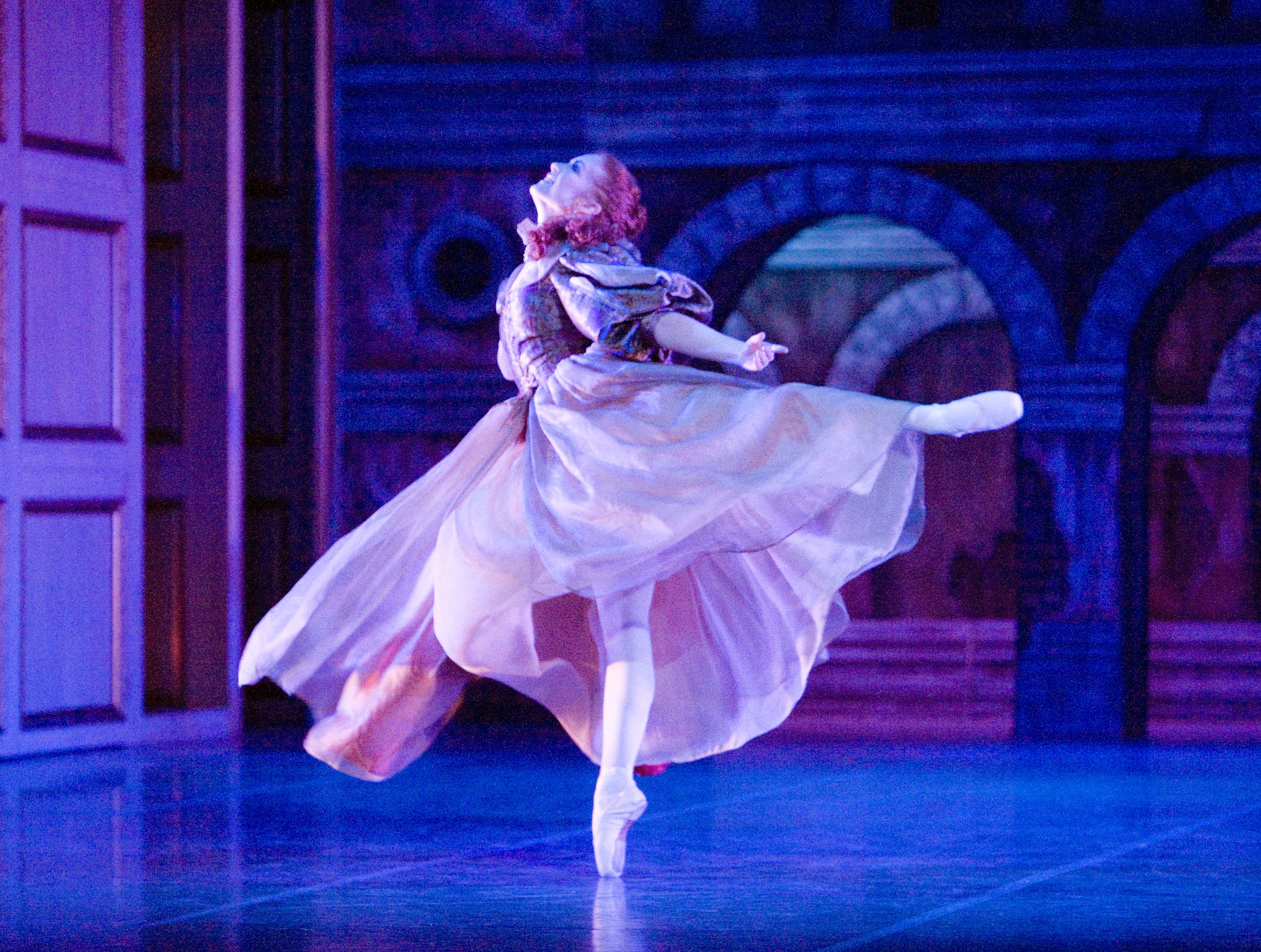 Victoria Sibson as Lady de Winter in Northern Ballet's Three Musketeers  Photo by Merlin Hendy