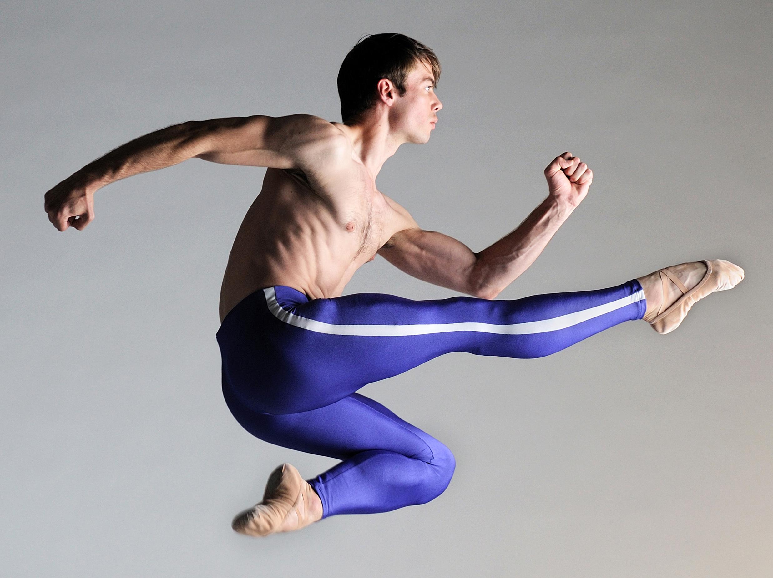 Christopher Harrison in Scottish Ballet's Dance GB promotional photo shoot. Photo by Laurent Liotardo