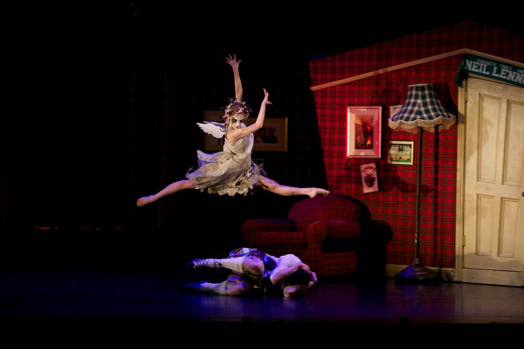Bethany Kingsley – Garner in Scottish Ballet's production of Matthew Bourne's Highland Fling. Photograph by Andy Ross.