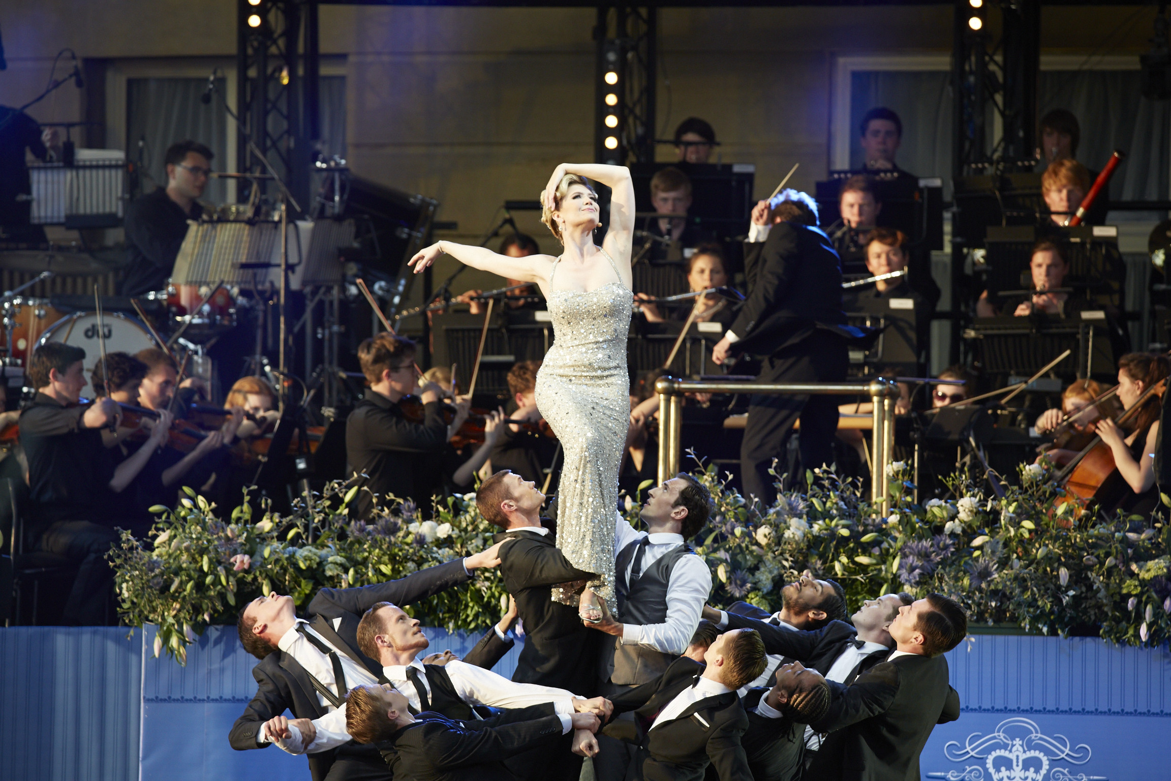 English National Ballet at the Coronation Festival at Buckingham Palace. Photograph : Theo Cohen