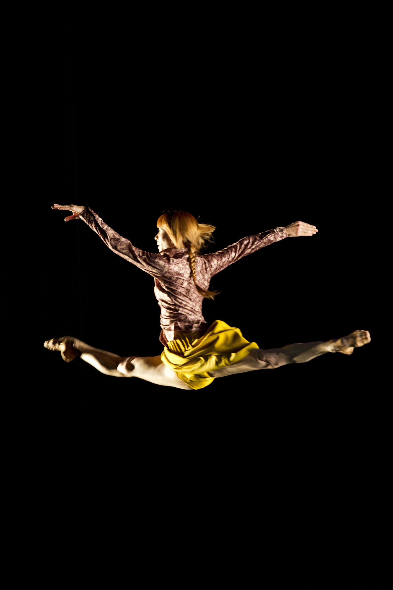 in 'Bye' part of her 6,000 Miles Away dance show at Sadler's Wells Theatre. Sylvie Guillem - (C) BBC - Photographer: n/a