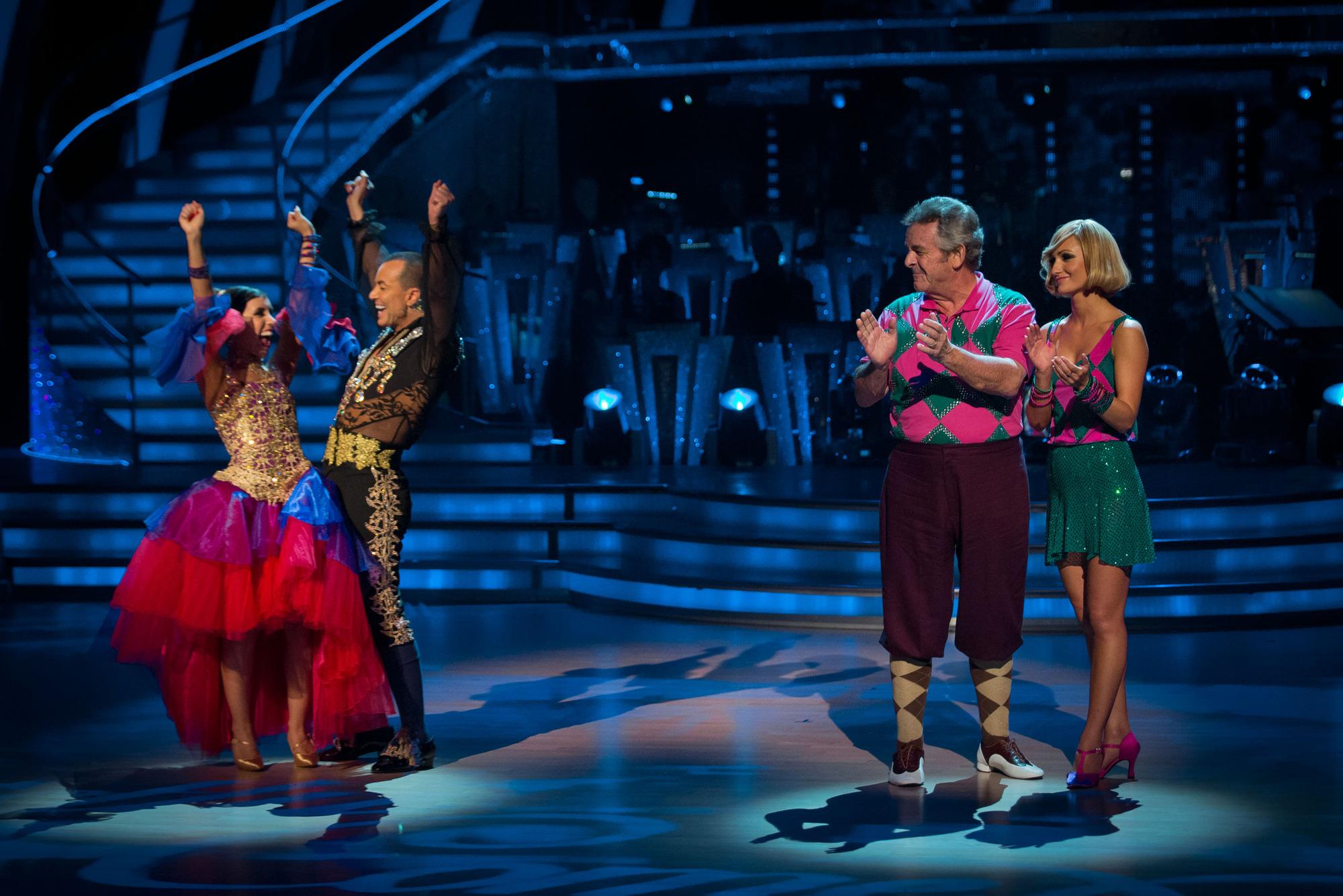 Janette Manrara, Julien Macdonald, Tony Jacklin, Aliona Vilani - (C) BBC - Photographer: Guy Levy