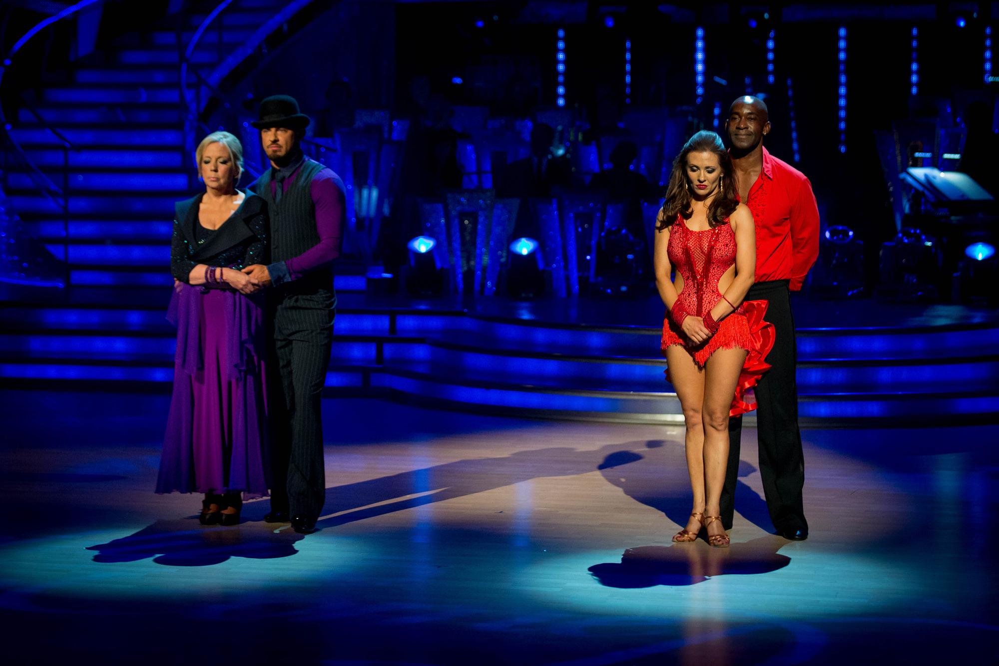 The bottom two couples Deborah Meaden, Robin Windsor, Anya Garnis, Patrick Robinson - (C) BBC - Photographer: Guy Levy