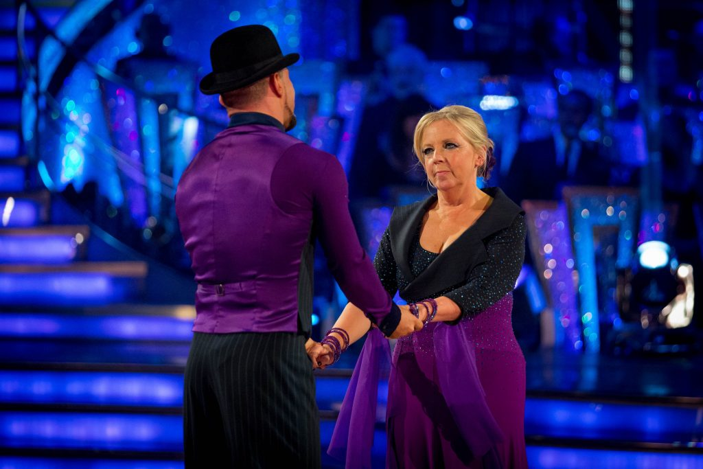 Deborah and Robin leave Strictly Come Dancing Tess Daly, Deborah Meaden, Robin Windsor - (C) BBC - Photographer: Guy Levy