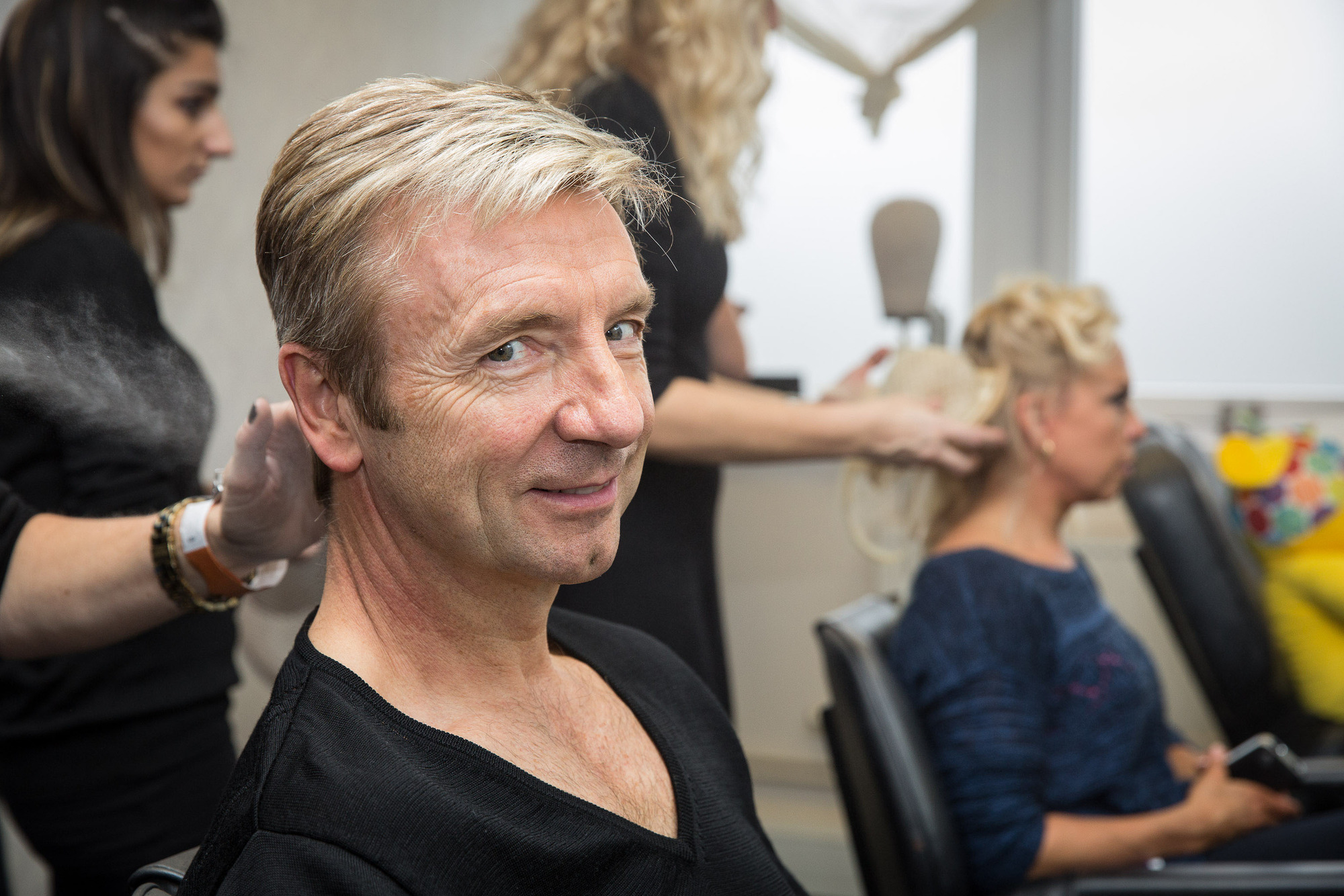 BEHIND THE SCENES Christopher Dean, Jayne Torvill - (C) BBC - Photographer: Guy Levy