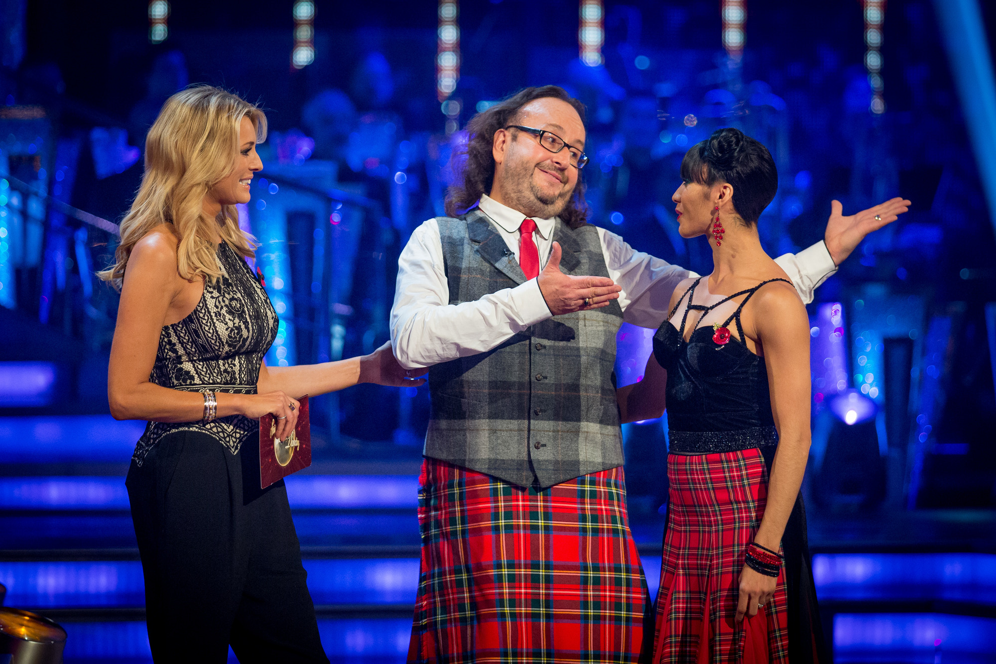 Tess Daly, Dave Myers, Karen Hauer - (C) BBC - Photographer: Guy Levy