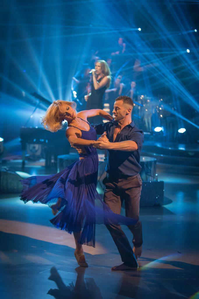 Celine Dion, Aliona Vilani, Artem Chigvinstev - (C) BBC - Photographer: Guy Levy