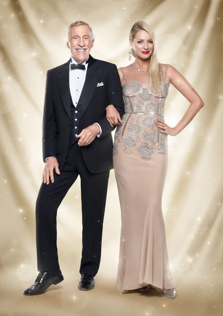 Sir Bruce Forsyth, Tess Daly - (C) BBC - Photographer: Ray Burmiston
