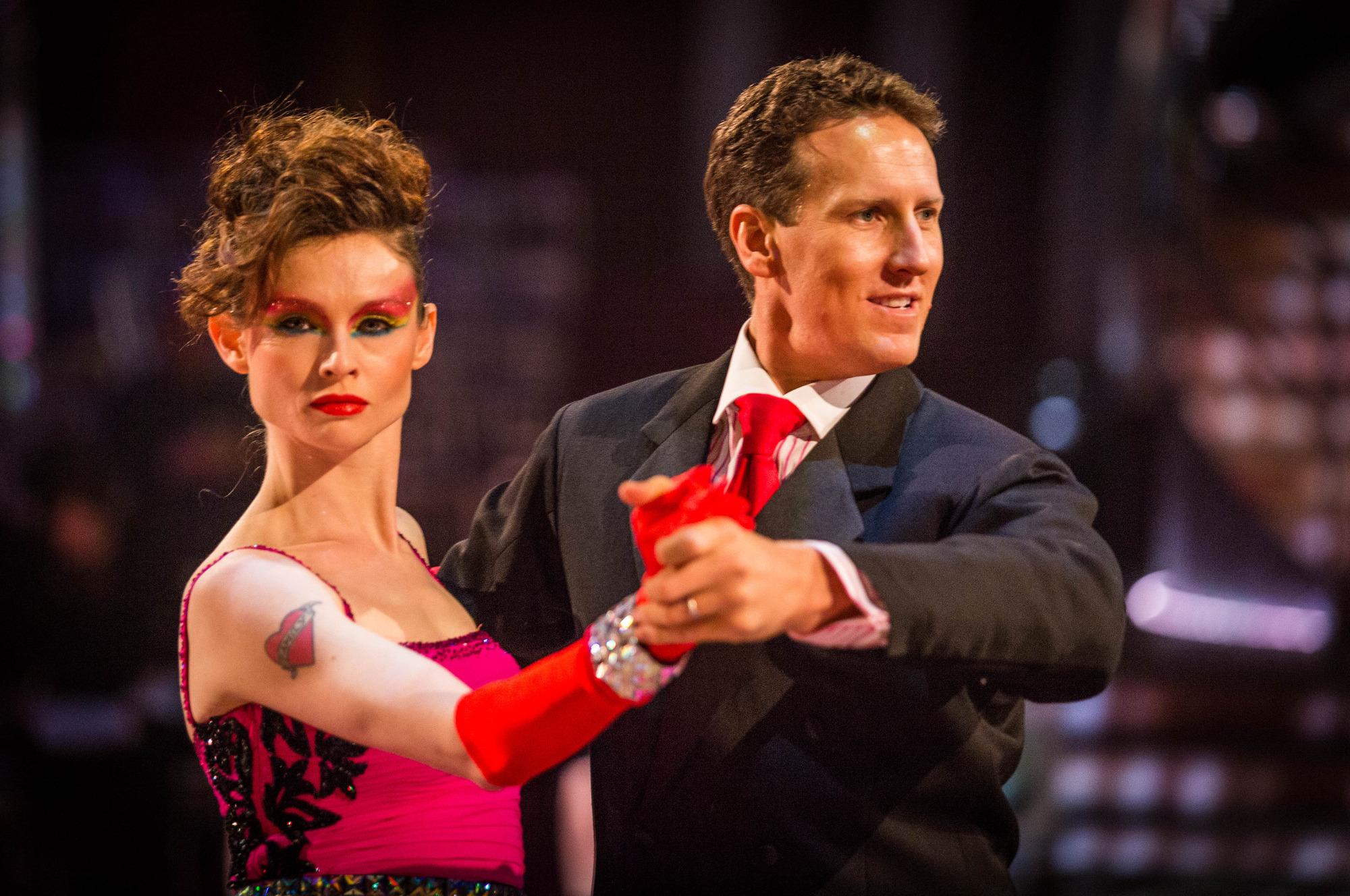 L - R Sophie Ellis-Bextor, Brendan Cole - (C) BBC - Photographer: Guy Levy