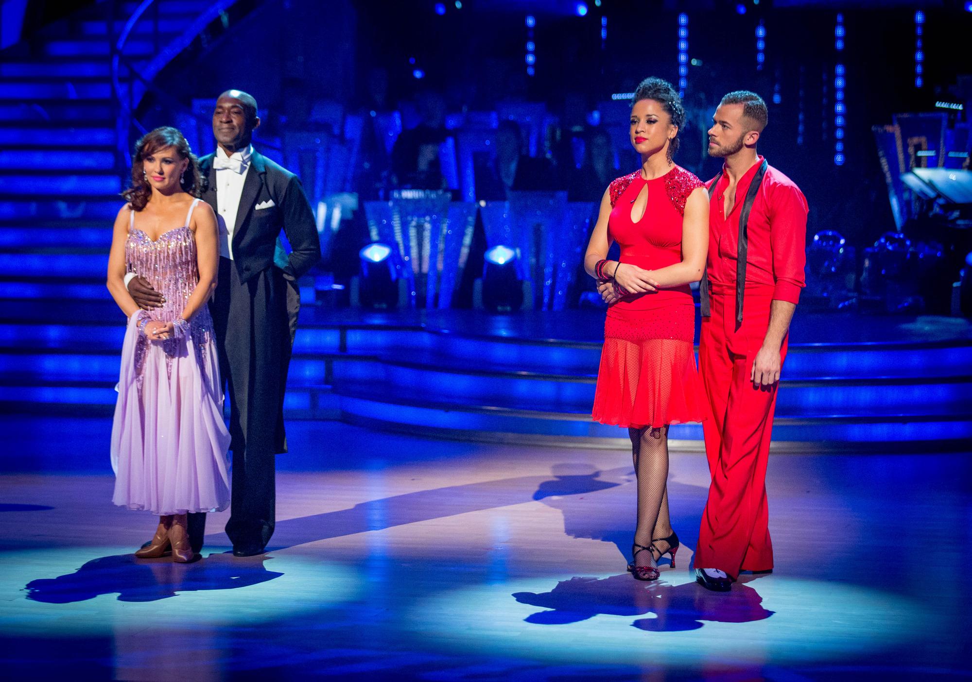The bottom two couples Anya Garnis, Patrick Robinson, Natalie Gumede, Artem Chigvinstev - (C) BBC - Photographer: Guy Levy