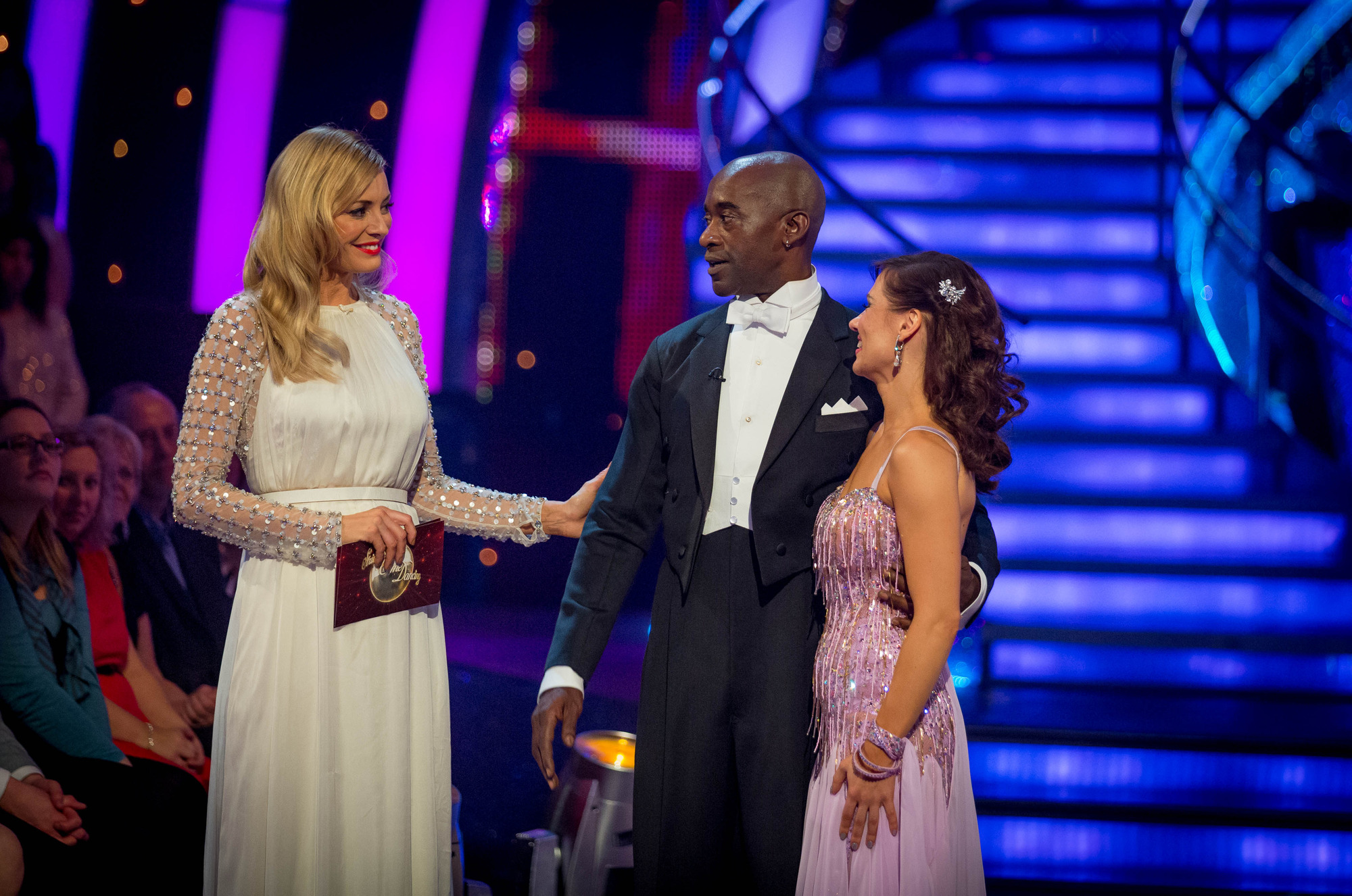 Patrick and Anya leave the competition Tess Daly, Patrick Robinson, Anya Garnis - (C) BBC - Photographer: Guy Levy