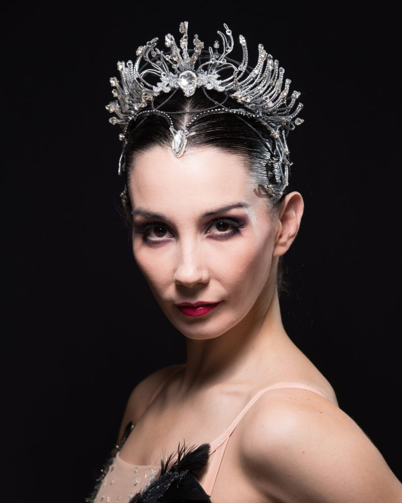 Artistic Director and Lead Principal dancer of English National Ballet, in character as the Black Swan, Odile, in Swan Lake Tamara Rojo - (C) BBC - Photographer: Arnaud Stephenson