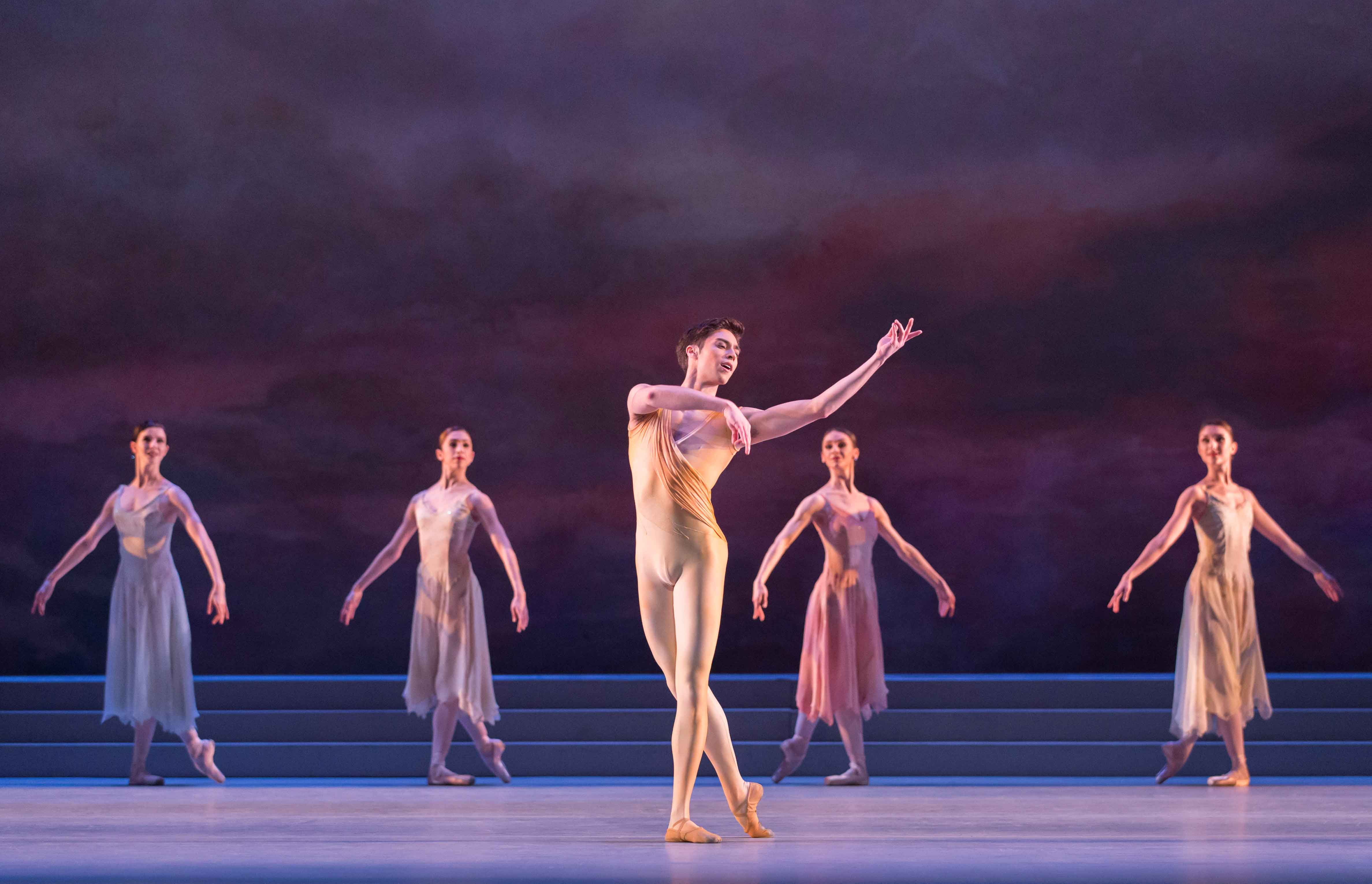 : James Hay and members of The Royal Ballet