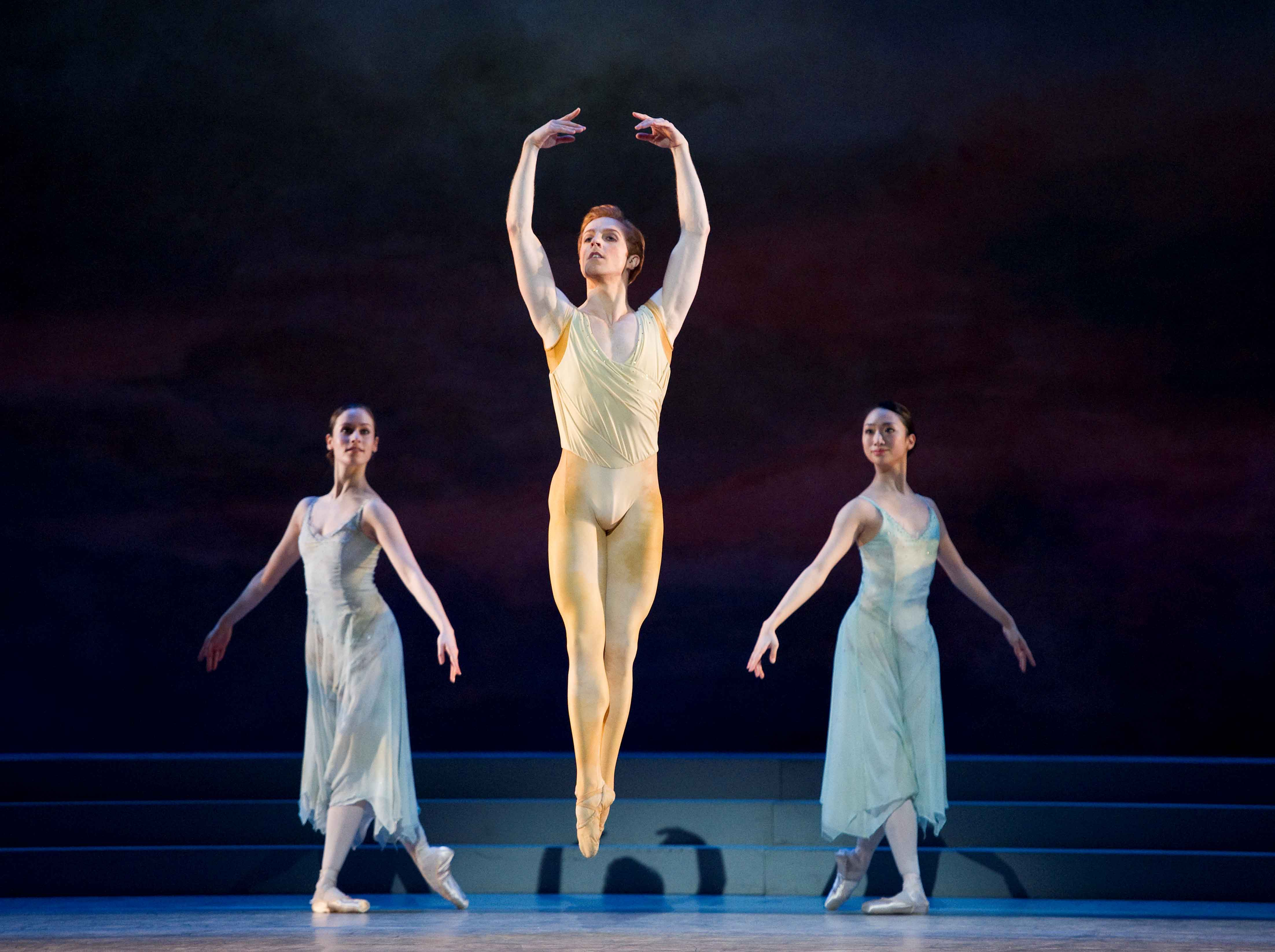 Steven McRae and artists of The Royal Ballet in The Royal Ballet's Rhapsody.