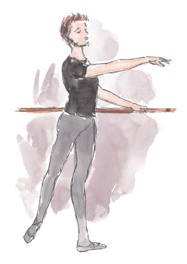 Ballet News World Exclusive Illo by Noemi Manalang