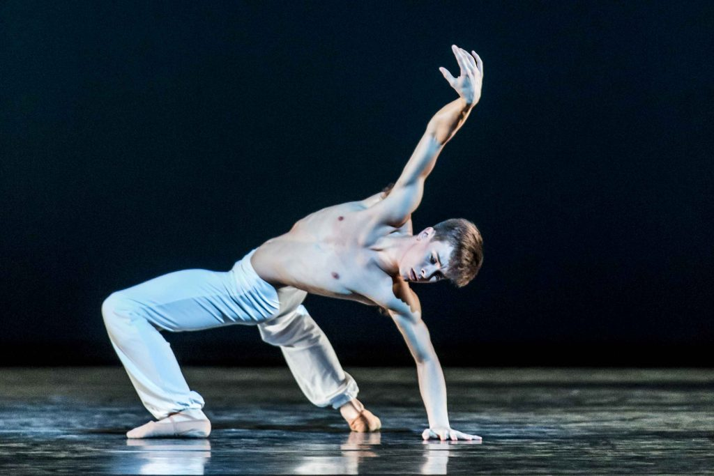 Calvin Richardson in his own version of The Dying Swan. Photograph by Johan Persson