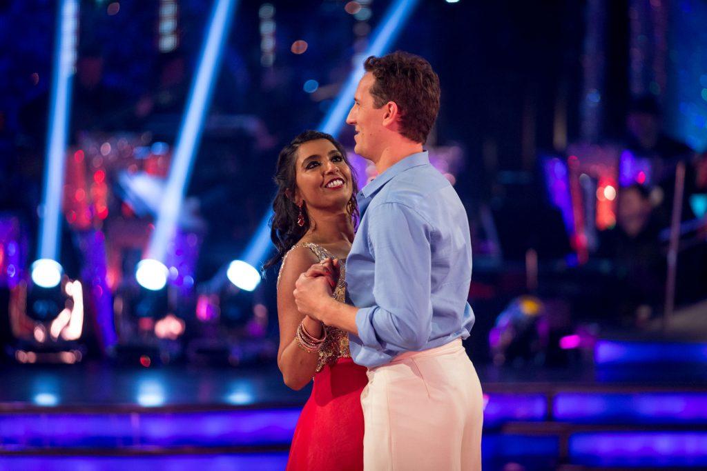 Sunetra and Brendan take their final dance Sunetra Sarker, Brendan Cole - (C) BBC - Photographer: Guy Levy