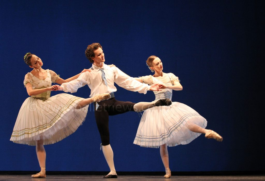 Femke Slot, Andreas Kaas & Susanne Grinder in the Pas de six from Napoli photographed by Cheryl Angear