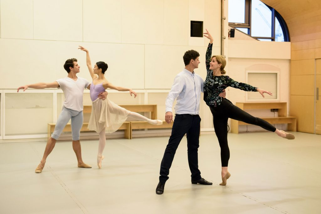 Darcey and her former dance partner Jonathan Cope coaching Soloists of The Royal Ballet Nicol Edmonds and Fumi Kaneko at the Siobhan Davies Studios   (C) Leopard Films / Bill Cooper - Photographer: Bill Cooper