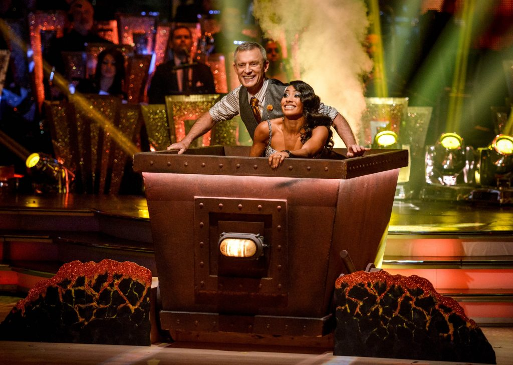 Programme Name: Strictly Come Dancing 2015 - TX: 14/11/2015 - Episode: n/a (No. n/a) - Picture Shows: **LIVE SHOW**  Jeremy Vine, Karen Hauer - (C) BBC - Photographer: Kieron McCarron