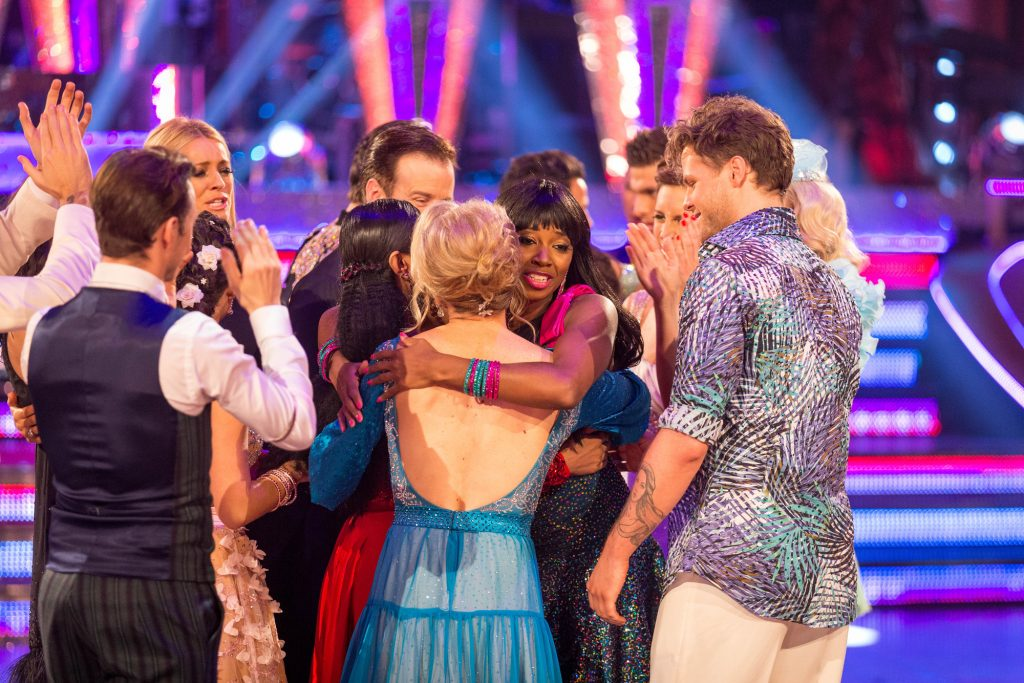 Jamelia and Tristan leave the competition Jamelia, Tristan MacManus - (C) BBC - Photographer: Guy Levy