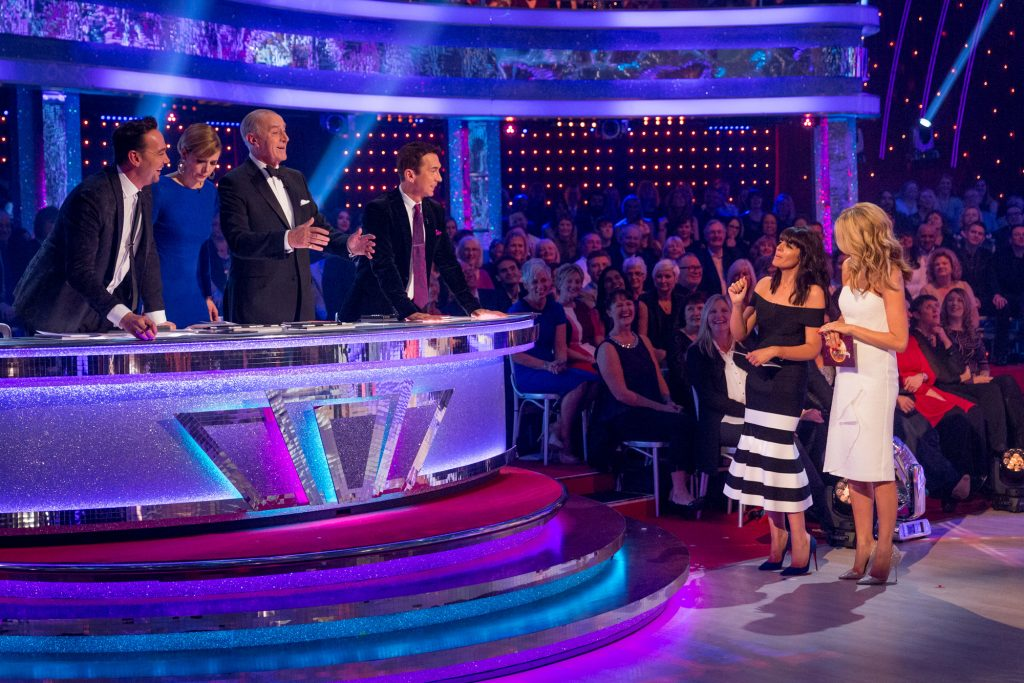 Programme Name: Strictly Come Dancing 2015 - TX: 28/11/2015 - Episode: n/a (No. n/a) - Picture Shows: **LIVE SHOW** The judging of the Quickstep-a-thon Craig Revel Horwood, Darcey Bussell, Len Goodman, Bruno Tonioli, Claudia Winkleman, Tess Daly - (C) BBC - Photographer: Guy Levy