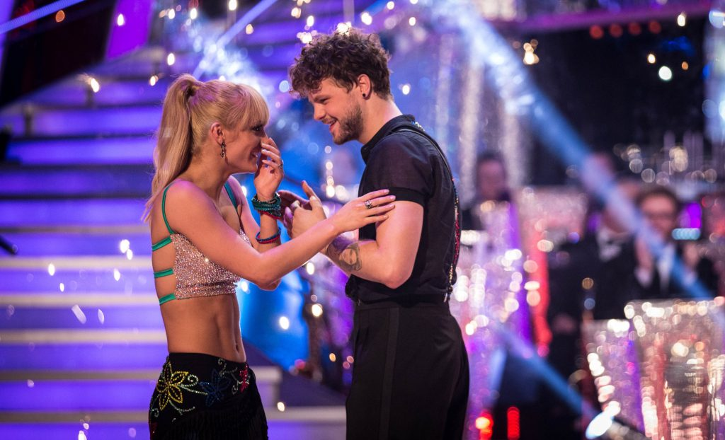 Programme Name: Strictly Come Dancing 2015 - TX: 19/12/2015 - Episode: n/a (No. n/a) - Picture Shows:  Aliona Vilani, Jay McGuiness - (C) BBC - Photographer: Guy Levy