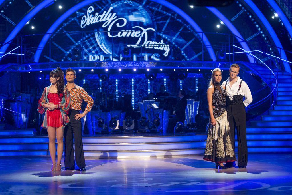 Daisy Lowe, Aljaž Skorjanec, Natalie Lowe, Greg Rutherford - (C) BBC  - Photographer: Guy Levy